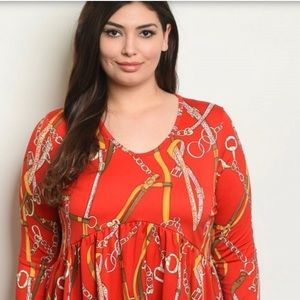 Beautiful red relaxed top